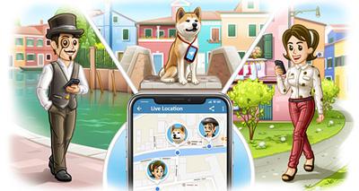 امکانات تلگرام, قابلیت ارسال موقعیت جغرافیایی در تلگرام