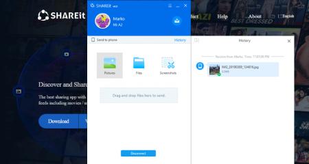اپلیکیشنSHAREit، انتقال فایل از  گوشی به کامپیوتر