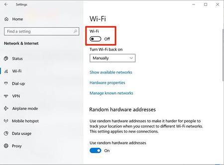 اتصال به وای فای در ویندوز 10, پسورد وای فای در ویندوز 10