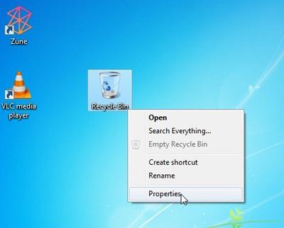 تنظیمات سطل آشغال ویندوز, فایل در سطل آشغال ویندوز پاک نمیشه