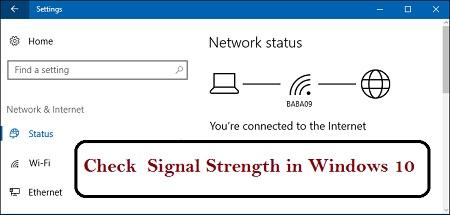 افزایش قدرت سیگنال وای فای مودم, تست سیگنال مودم, نمایش قدرت سیگنال وایرلس در ویندوز