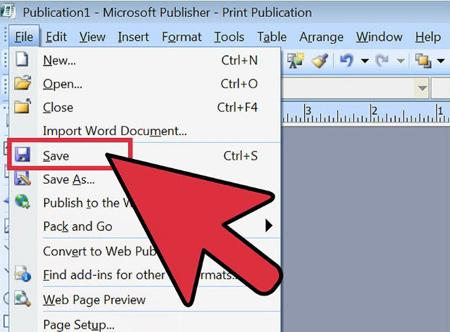 فشرده سازی عکس در microsoft publisher, برنامه microsoft publisher