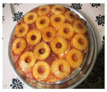 کیک آناناس و گردو