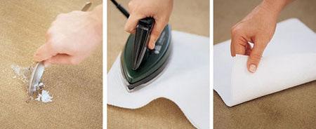 شیوه از بین بردن سوختگی فرش, روش های برطرف کردن سوختگی فرش