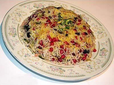 طرز تهیه انار پلو,غذای شب یلدا