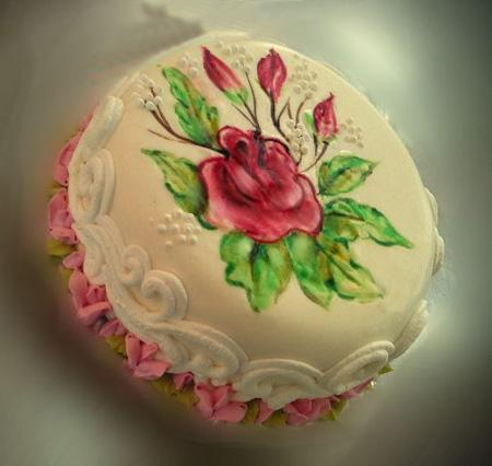 تزیین کیک با نقاشی های خوراکی,روش نقاشی روی کیک,نقاشی روی کیک چند طبقه