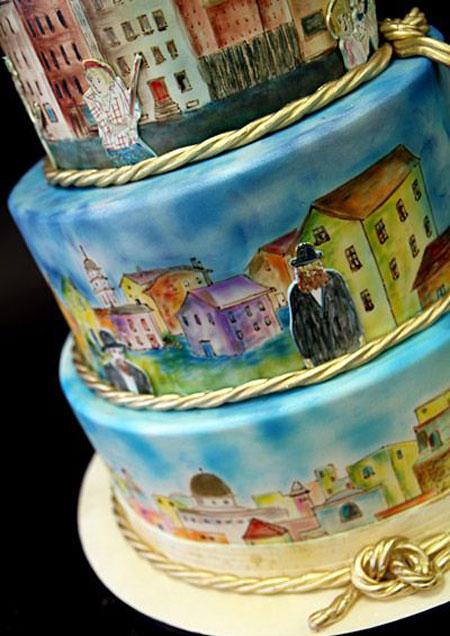 طرز نقاشی روی کیک,کشیدن نقاشی روی کیک,طراحی روی کیک