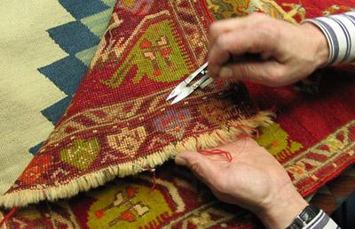 مرمت قالی,هنر مرمت قالی,روشهای مرمت قالی