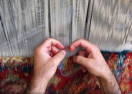 انواع گره ها در فرش ایرانی