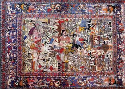 هنر ایران, فرش دستباف, فرش بافی