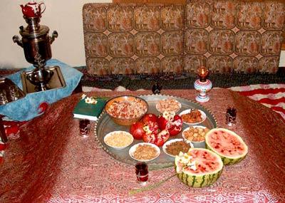 رسم و رسومات یلدا, آداب و رسوم, شب یلدا