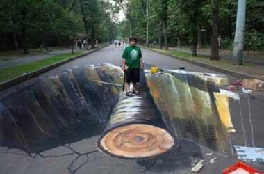 نقاشيهاي 3 بعدي دريکي از پارکهاي روسيه