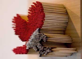 هنرنمايی با چوب کبریت (عكس)