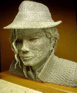 مجسمه هایی بسیار جالب و زیبا از جنس سیم