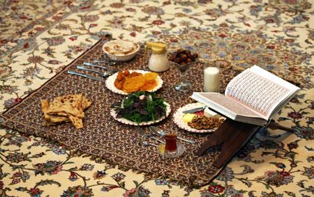 رسوم مردم مرکزی, آداب و رسوم ماه رمضان