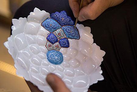 مراحل ساخت مینا, صنایع مینا کاری,http://www.oojal.rzb.ir/post/1045