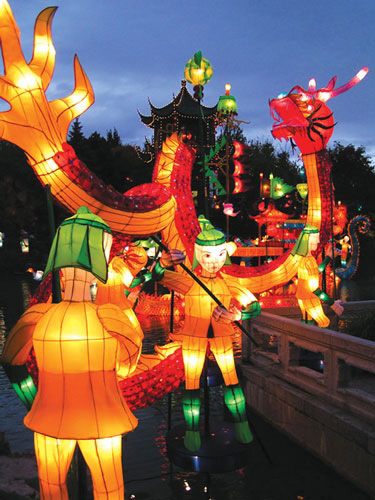 جشن پایان فصل, آداب و رسوم مردم چین