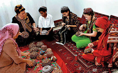 هنر سوزن دوزی ترکمن