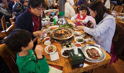 غذاهای کره ای, غذا در کره