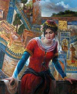 تاريخي: آهو نور زن هنرمند ایرانی