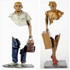 هنرپیكره سازی مدرن تندیسهای انسانی+عکس