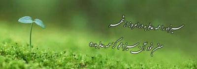 اشعار استاد شهریار,شعر در مورد سیزده بدر