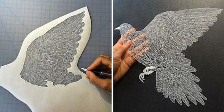 مجسمه های کاغذی بسیار زیبا (+تصاویر)