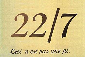 روز تقریب پی, 22 ژوئیه روز تقریب π, عدد پی