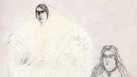 نقاشی,عکس هایی از نقاشیهای ناصرالین شاه,نقاشی های ناصرالدین شاه
