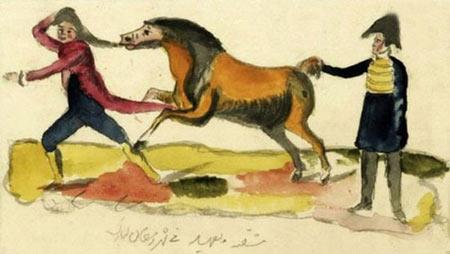 ناصرالدین شاه,عکس هایی از نقاشیهای ناصرالین شاه,نقاشی های ناصرالدین شاه
