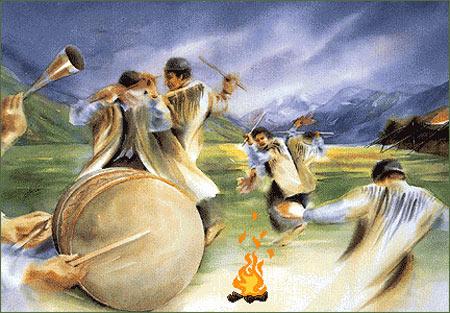 نوروز باستانی,آئین های نوروز باستانی,چهارشنبه سوری از آئین های نوروز باستانی