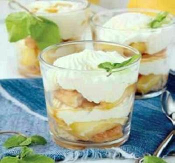 درست کردن دسر سیب و خامه, طرز درست کردن دسر سیب و خامه