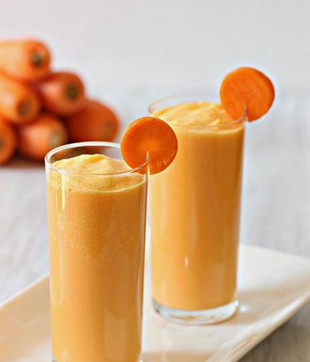 طرز تهیه اسموتی شیر هویج,درست کردن اسموتی شیر هویج
