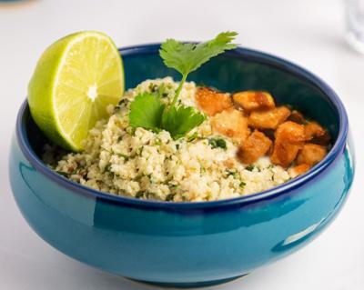 طرز تهیه برنج گل کلم، غذایی رژیمی