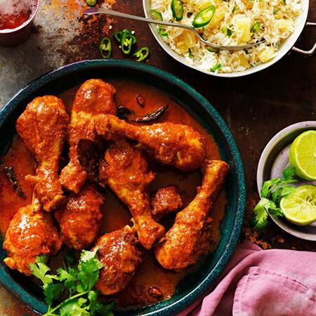 درست کردن مرغ تیکا ماسالای هندی, طرز تهیه غذاهای هندی, پخت غذاهای هندی