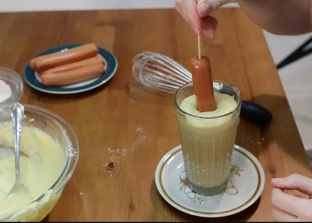 اگ پنیری بدون سوسیس, طرز تهیه کورن داگ پنیری کره ای, طرز تهیه کورن داگ