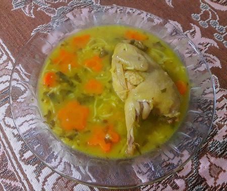 روش های پخت سوپ بلدرچین, طرز پخت سوپ بلدرچین