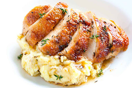 غذای رژیمی با فیله مرغ و قارچ, الویه رژیمی با فیله مرغ, غذای رژیمی با فیله ی مرغ و سیب زمینی