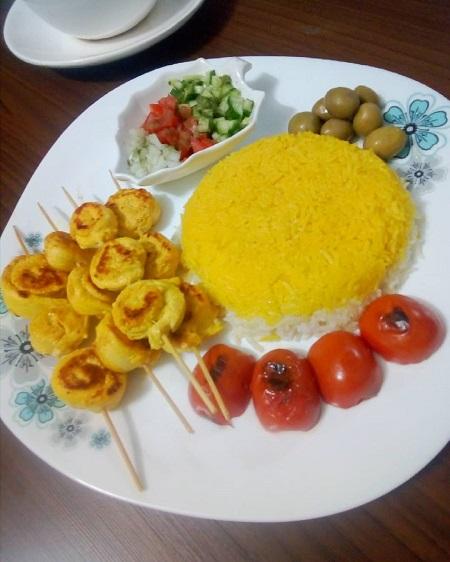 غذای رژیمی با فیله ی مرغ و سیب زمینی, فیله مرغ سوخاری رژیمی در فر, بشقاب رژیمی فیله مرغ