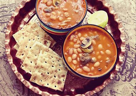 طرز تهیه لوبیا چیتی با قارچ,خوراک قارچ و لوبیا