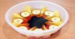 طرز تهیه کرم ژله با میوه, ژله میوه در قالب آفتابگردان