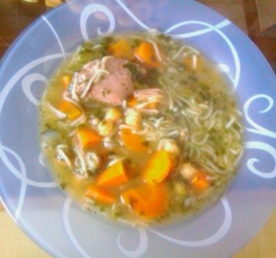 طرز تهیه سوپ ماهیچه, پخت سوپ برای سرماخوردگی