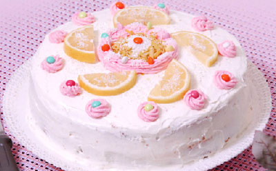 طرز تهیه کیک لیمو و نارگیل , پخت کیک لیمو