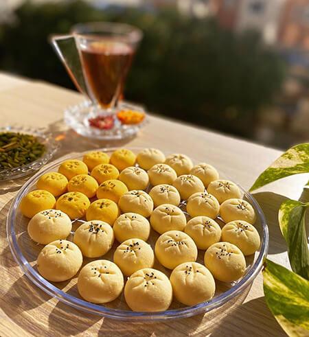 طرز تهیه شیرینی برنجی برای پذیرایی عید