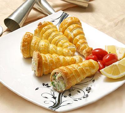 طرز تهیه قیف ژامبون , قیف ژامبون با سیب زمینی