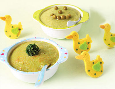 نحوه پخت پوره سبزیجات, پوره سبزیجات برای کودکان