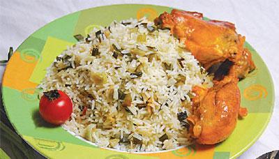 پخت انواع برنج با مرغ