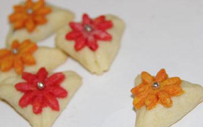 شیرینی مثلثی,طرز تهیه شیرینی مثلثی
