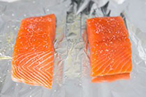 ماهی سالمون با انبه و آووکادو, طرز تهیه ماهی سالمون با سبزیجات