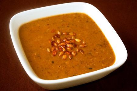 طرز تهیه سوپ کدو حلوایی, پخت سوپ کدو با لوبیا